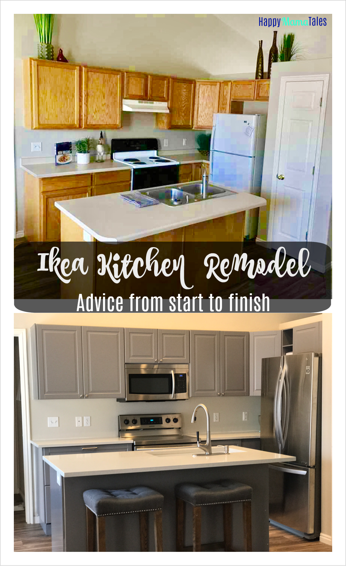 Ikea kitchen remodel before after photos happy mama for Complete kitchen remodel price
